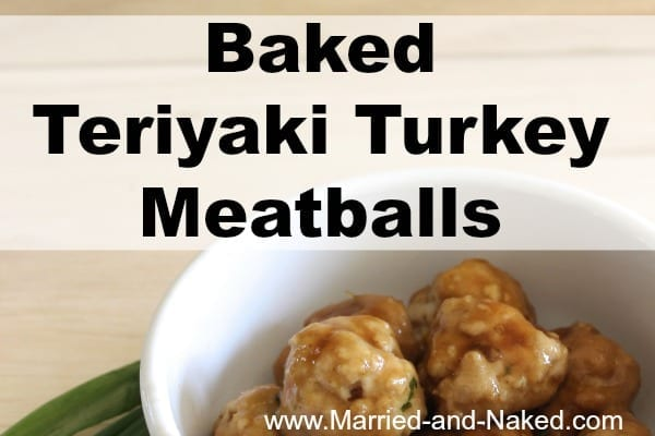 baked teriyaki turkey meatballs