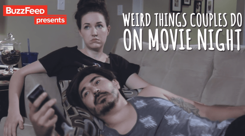 Weird things couples do on movie night - married and naked