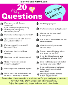 20 (More) Date Night Questions for Married Couples  Free Printable