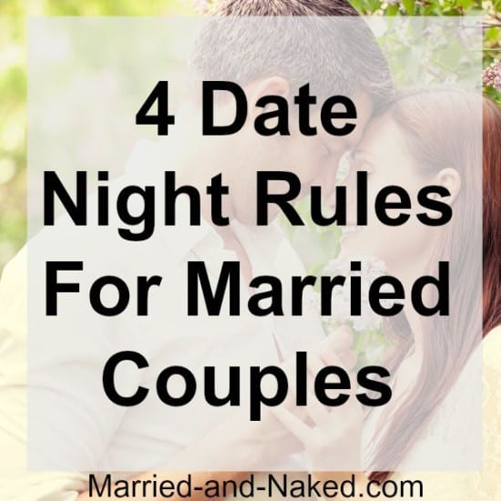 4 date night rules for married couples