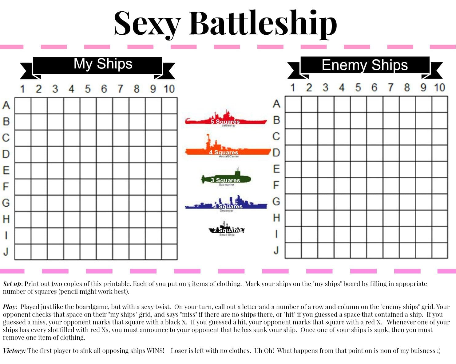 photo relating to Battleship Printable identify y battleship - Married and Bare - Connection Website