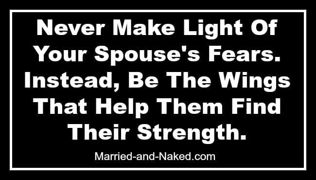 Never Make Light Of Your Spouses Fears - Banner married and naked