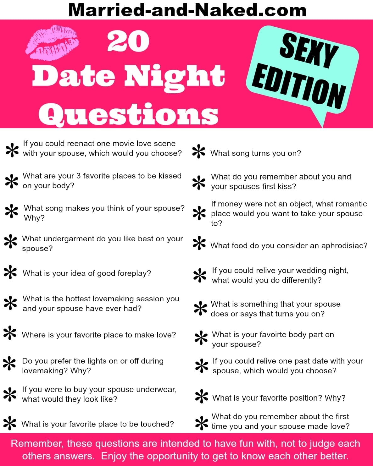 Dating game questions