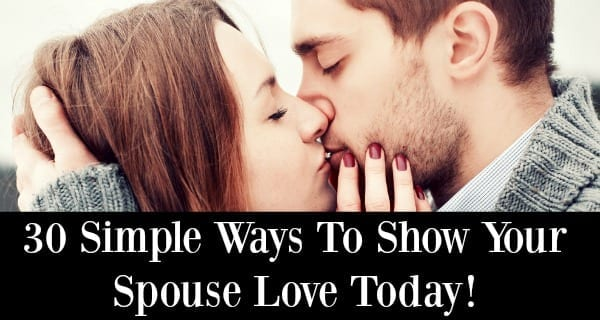 30 simple ways to show your spouse love banner - married and naked