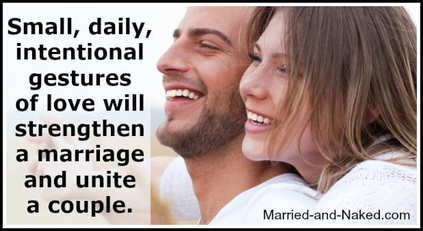 small daily intentional gestures - marriage quote banner