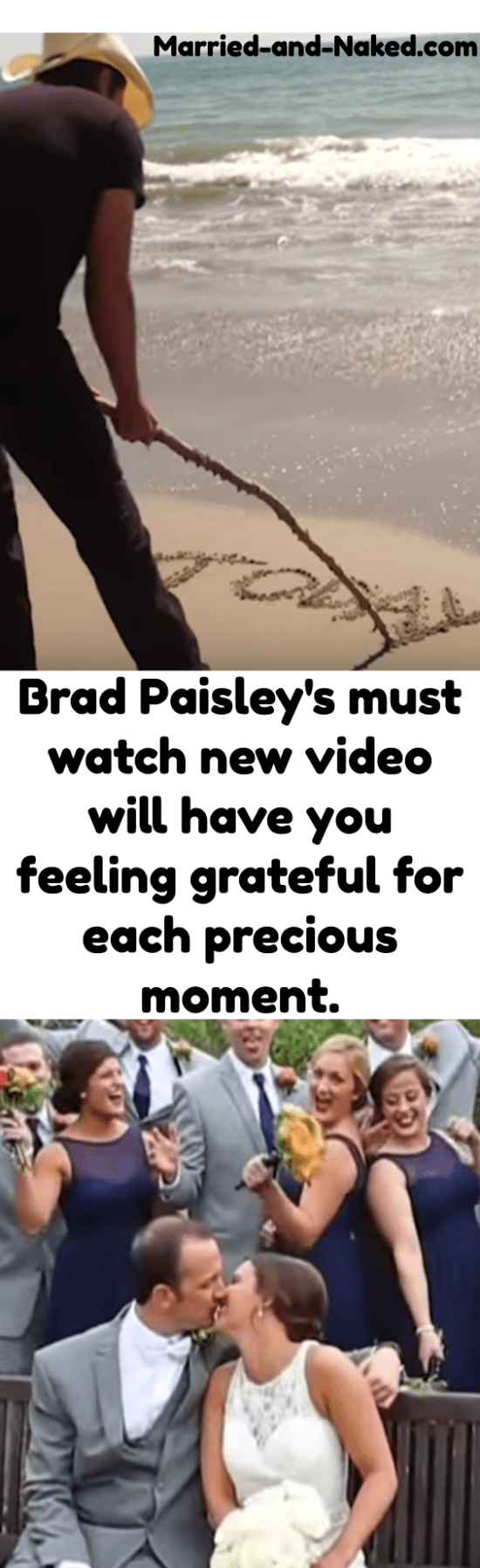 Brad Paisley's beautiful new song and video, Today.