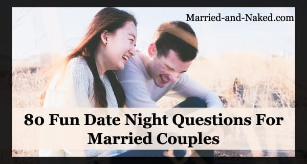 80 fun questions for married couples banner