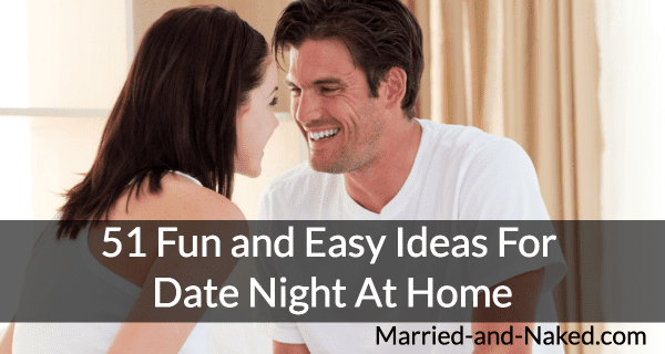 fun ideas for date night at home banner